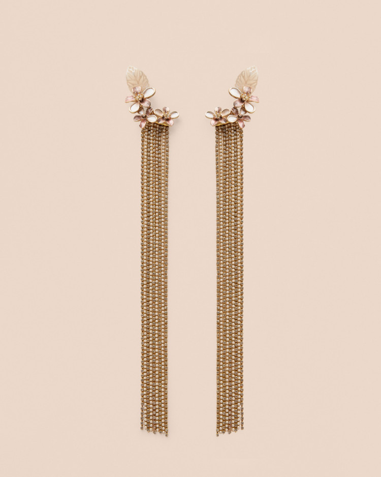 Pendientes Strass Natural Nude