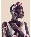 Modelo con Diadema Tanzania Quartz